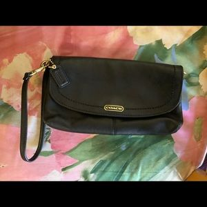 Coach Leather Wristlet Small Bag